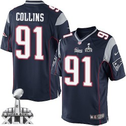 New England Patriots Jamie Collins Official Nike Navy Blue Limited Adult Home Super Bowl XLIX NFL Jersey