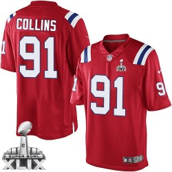 New England Patriots Jamie Collins Official Nike Red Limited Adult Alternate Super Bowl XLIX NFL Jersey