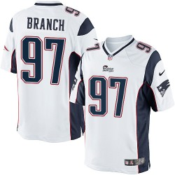 New England Patriots Alan Branch Official Nike White Limited Youth Road NFL Jersey