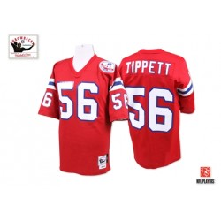 New England Patriots Andre Tippett Official Mitchell and Ness Red Authentic Adult Alternate Throwback NFL Jersey