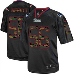 New England Patriots Andre Tippett Official Nike Black Elite Adult Camo Fashion NFL Jersey