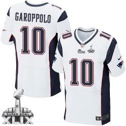 31c667b897f New England Patriots Jimmy Garoppolo Official Nike White Elite Adult Road Super  Bowl XLIX NFL Jersey