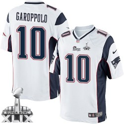 New England Patriots Jimmy Garoppolo Official Nike White Limited Adult Road Super Bowl XLIX NFL Jersey