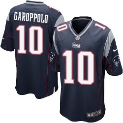 New England Patriots Jimmy Garoppolo Official Nike Navy Blue Game Adult Home NFL Jersey