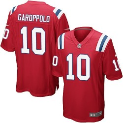 New England Patriots Jimmy Garoppolo Official Nike Red Game Adult Alternate NFL Jersey