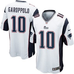 New England Patriots Jimmy Garoppolo Official Nike White Game Adult Road NFL Jersey