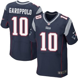 New England Patriots Jimmy Garoppolo Official Nike Navy Blue Elite Adult Home NFL Jersey