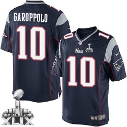 New England Patriots Jimmy Garoppolo Official Nike Navy Blue Limited Adult Home Super Bowl XLIX NFL Jersey