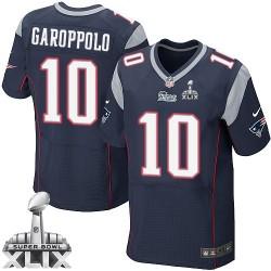 New England Patriots Jimmy Garoppolo Official Nike Navy Blue Elite Adult Home Super Bowl XLIX NFL Jersey