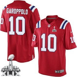 New England Patriots Jimmy Garoppolo Official Nike Red Limited Adult Alternate Super Bowl XLIX NFL Jersey