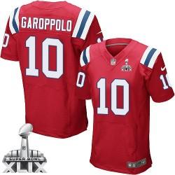 New England Patriots Jimmy Garoppolo Official Nike Red Elite Adult Alternate Super Bowl XLIX NFL Jersey