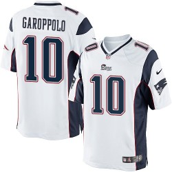 New England Patriots Jimmy Garoppolo Official Nike White Limited Adult Road NFL Jersey