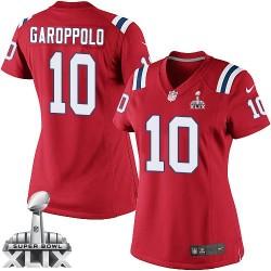 New England Patriots Jimmy Garoppolo Official Nike Red Elite Women's Alternate Super Bowl XLIX NFL Jersey