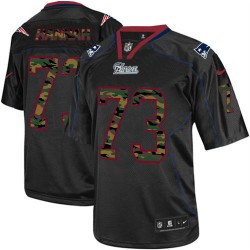 New England Patriots John Hannah Official Nike Black Elite Adult Camo Fashion NFL Jersey