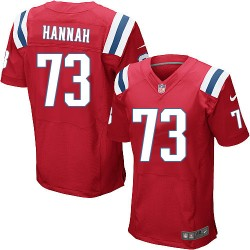 New England Patriots John Hannah Official Nike Red Elite Adult Alternate NFL Jersey