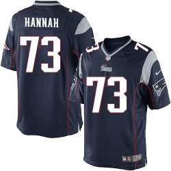 New England Patriots John Hannah Official Nike Navy Blue Limited Adult Home NFL Jersey