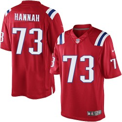 New England Patriots John Hannah Official Nike Red Limited Adult Alternate NFL Jersey