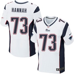 New England Patriots John Hannah Official Nike White Elite Adult Road NFL Jersey