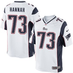 New England Patriots John Hannah Official Nike White Limited Adult Road NFL Jersey