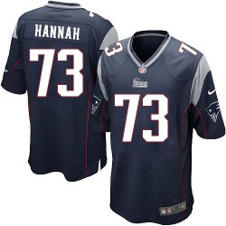 New England Patriots John Hannah Official Nike Navy Blue Game Adult Home NFL Jersey