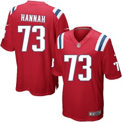 New England Patriots John Hannah Official Nike Red Game Adult Alternate NFL Jersey