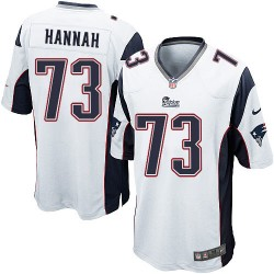 New England Patriots John Hannah Official Nike White Game Adult Road NFL Jersey