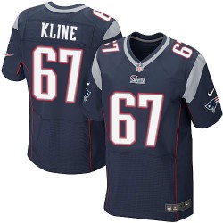 New England Patriots Josh Kline Official Nike Navy Blue Elite Adult Home NFL Jersey