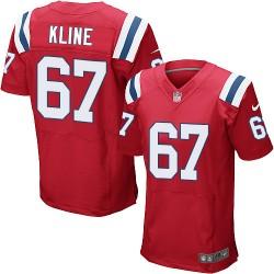 New England Patriots Josh Kline Official Nike Red Elite Adult Alternate NFL Jersey