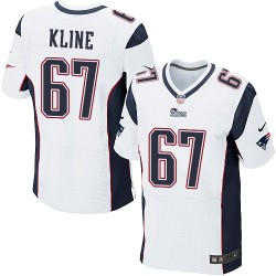 New England Patriots Josh Kline Official Nike White Elite Adult Road NFL Jersey