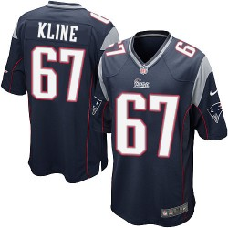 New England Patriots Josh Kline Official Nike Navy Blue Game Adult Home NFL Jersey