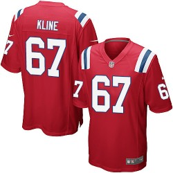 New England Patriots Josh Kline Official Nike Red Game Adult Alternate NFL Jersey
