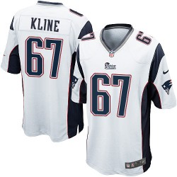 New England Patriots Josh Kline Official Nike White Game Adult Road NFL Jersey