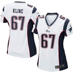 New England Patriots Josh Kline Official Nike White Game Women's Road NFL Jersey