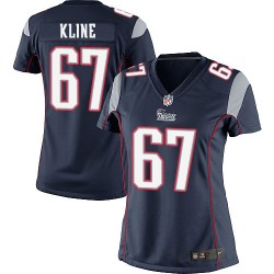 New England Patriots Josh Kline Official Nike Navy Blue Limited Women's Home NFL Jersey
