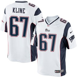 New England Patriots Josh Kline Official Nike White Elite Youth Road NFL Jersey