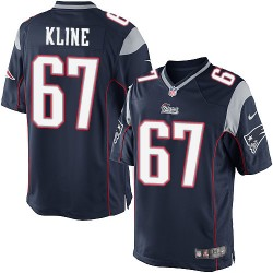 New England Patriots Josh Kline Official Nike Navy Blue Limited Youth Home NFL Jersey