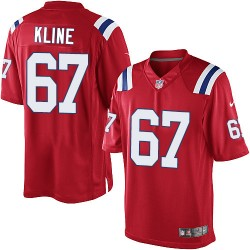 New England Patriots Josh Kline Official Nike Red Limited Youth Alternate NFL Jersey