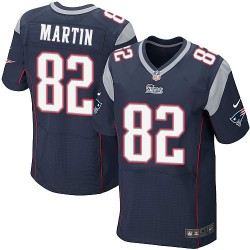New England Patriots Keshawn Martin Official Nike Navy Blue Elite Adult Home NFL Jersey