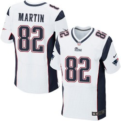 New England Patriots Keshawn Martin Official Nike White Elite Adult Road NFL Jersey