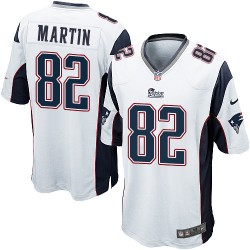 New England Patriots Keshawn Martin Official Nike White Game Adult Road NFL Jersey