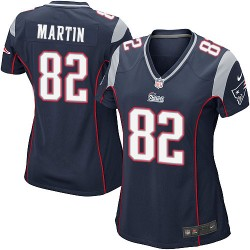 New England Patriots Keshawn Martin Official Nike Navy Blue Game Women's Home NFL Jersey