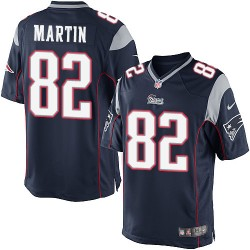 New England Patriots Keshawn Martin Official Nike Navy Blue Elite Youth Home NFL Jersey
