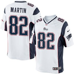 New England Patriots Keshawn Martin Official Nike White Elite Youth Road NFL Jersey