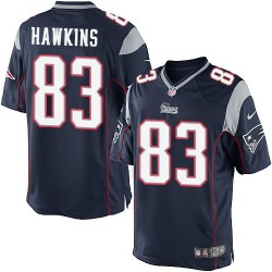 New England Patriots Lavelle Hawkins Official Nike Navy Blue Limited Adult Home NFL Jersey