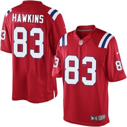New England Patriots Lavelle Hawkins Official Nike Red Limited Adult Alternate NFL Jersey