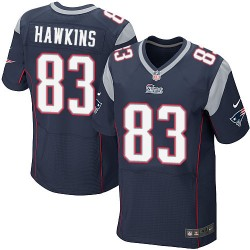 New England Patriots Lavelle Hawkins Official Nike Navy Blue Elite Adult Home NFL Jersey