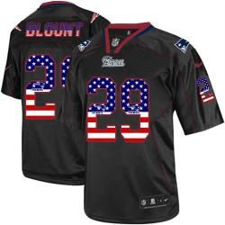 New England Patriots LeGarrette Blount Official Nike Black Elite Adult USA Flag Fashion NFL Jersey