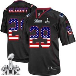 New England Patriots LeGarrette Blount Official Nike Black Elite Adult USA Flag Fashion Super Bowl XLIX NFL Jersey