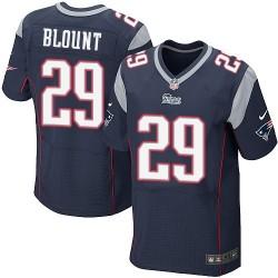 New England Patriots LeGarrette Blount Official Nike Navy Blue Elite Adult Home NFL Jersey