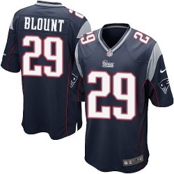 New England Patriots LeGarrette Blount Official Nike Navy Blue Game Adult Home NFL Jersey